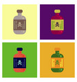 assembly flat icons potion in bottle vector image