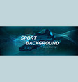background with a sneaker and dynamic waves vector image vector image