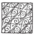bendy with scrollwork damaskeening are used in vector image vector image