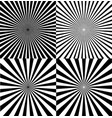 black and white ray star burst background set vector image