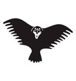 black scary bird icon simple style vector image