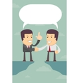 Business people were able to negotiate the gap vector image vector image