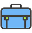 business suitcase bag or briefcase flat vector image