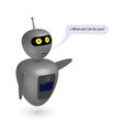 chatbot say users what can i do vector image vector image
