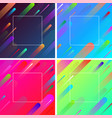 colorful backgrounds with frame and geometric vector image vector image
