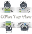 concept office workplace vector image vector image