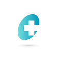 Cross plus medical logo icon design template vector image
