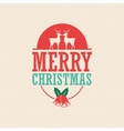 Deer and bell icon Merry Christmas vector image