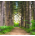ecological blurred with road trees and eco vector image