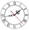 elegant clock face with roman numerals vector image vector image