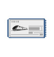 fast train ticket icon vector image