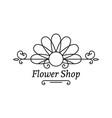flower shop emblem vector image vector image
