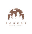forest tree logo design template vector image vector image