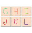 G to L alphabets set 2 vector image vector image