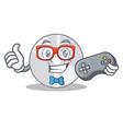 gamer cd mascot cartoon style vector image