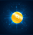 golden bitcoin digital currency cryptocurrency vector image vector image