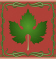 grape leaf on vintage background vector image vector image