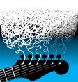 guitar strings scribble square vector image vector image