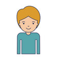half body guy in colorful silhouette vector image