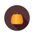 Halloween pumpkin flat circle icon vector image vector image