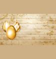 hanging golden easter eggs vector image vector image