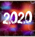 happy new year 2020 background decoration vector image vector image