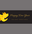 happy new year banner template vector image vector image