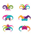 harlequin hats stock vector image vector image
