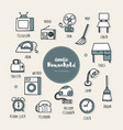 household dessert hand drawn doodle icons set vector image vector image