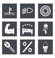 Icons for Web Design set 34 vector image vector image