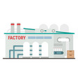 industrial manufacturing building vector image