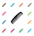 isolated hairdressing icon grooming vector image vector image