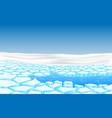 landscape glacier at geographic pole vector image vector image