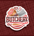 logo for butchery vector image