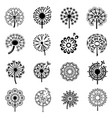 logo with dandelion icons set simple style vector image