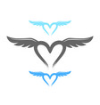 love life wings symbol design vector image