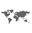 map global planet earth point white background vector image vector image
