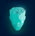 maze head vector image vector image