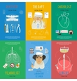 Medicine flat icons composition poster vector image vector image