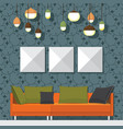 modern living room vector image vector image