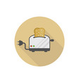modern toaster isolated flat icon vector image vector image