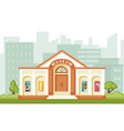 museum building historical vector image vector image