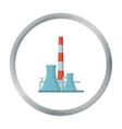 Oil refinery factory icon in cartoon style vector image vector image