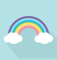 pastel rainbow with long shadow vector image