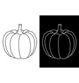 pumpkin outline doodles vector image
