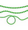 pure beads are realistic vector image vector image