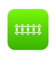 railway icon digital green vector image