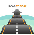road to goal abstract way from asphalt vector image vector image
