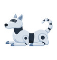 robot dog cartoon icon pet metal friend guide vector image vector image