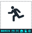 run icon flat vector image vector image